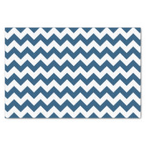 Navy Blue Zigzag Stripes Chevron Pattern Tissue Paper