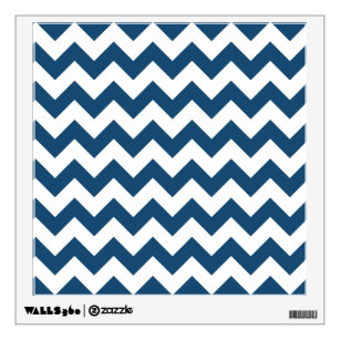 Navy Blue Chevron Wall Decals Stickers Zazzle