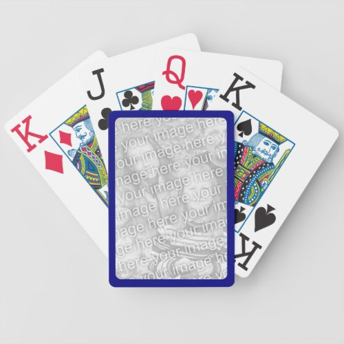 Navy Border for Photo Bicycle Playing Cards