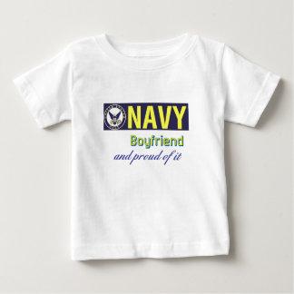 Navy Boyfriend Baby T-Shirt