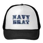 Navy brat mesh hat