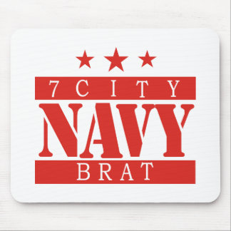 NAVY Brat - Red Mouse Pad