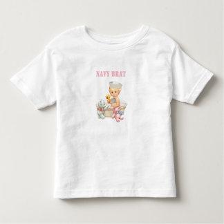Navy Brat (Toddler Girl) Shirt