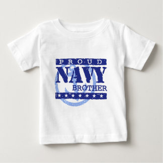 Navy Brother Baby T-Shirt