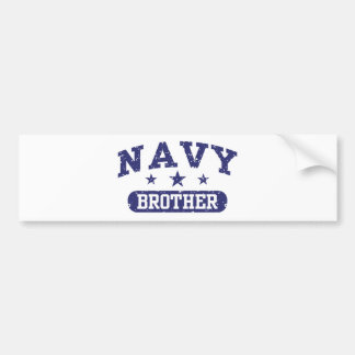 Navy Brother Bumper Sticker