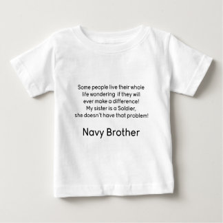 Navy Brother No Problem Sister Baby T-Shirt