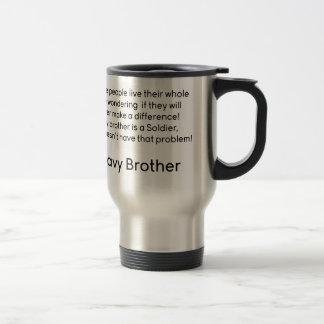Navy Brother No Problem Travel Mug
