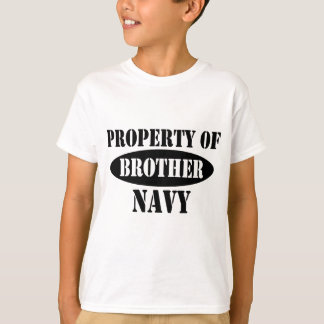 Navy Brother Property T-Shirt
