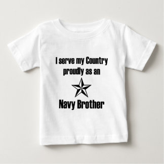 Navy Brother Serve Baby T-Shirt
