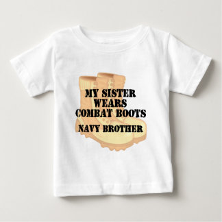 Navy Brother Sister DCB Baby T-Shirt