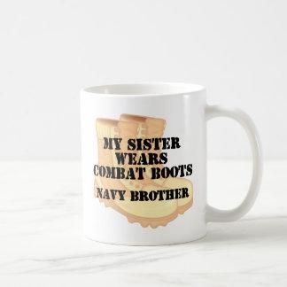 Navy Brother Sister DCB Coffee Mug