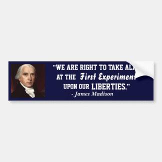 Navy Bumper Sticker-James Madison- On our Liberty Bumper Sticker