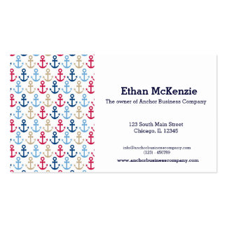 Navy Business Cards