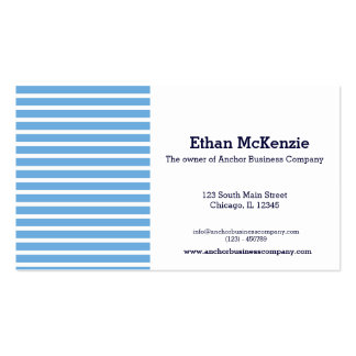 Navy Business Card Template
