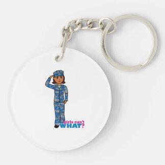 Navy Camo Dark Keychain