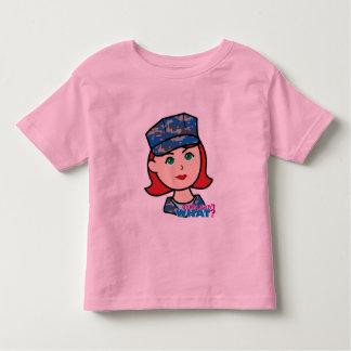 Navy Camo Head Light Red Toddler T-shirt