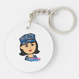 Navy Camo Head Medium Keychain