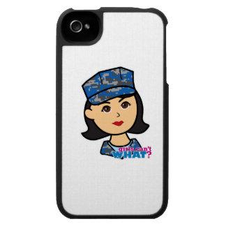 Navy Camo Head Medium iPhone 4 Cover
