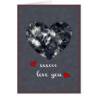 Navy Camo Valentine Hearts - Valentine's Day Card