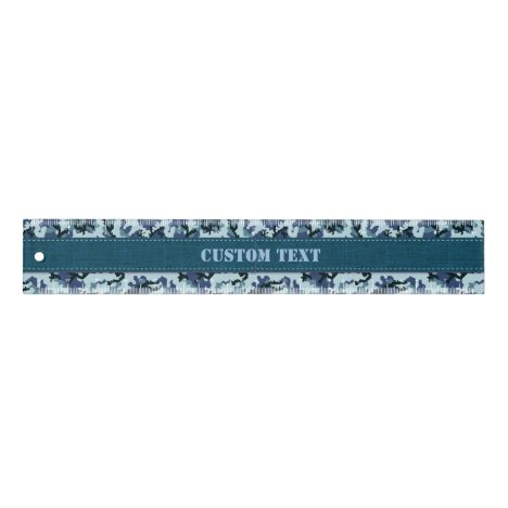 Navy Camouflage 12 inch Ruler