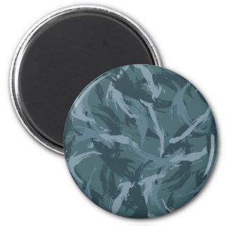 Navy Camouflage 2 Inch Round Magnet