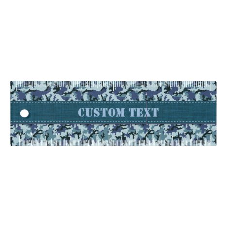 Navy Camouflage 6 inch Ruler