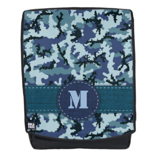Navy camouflage backpack