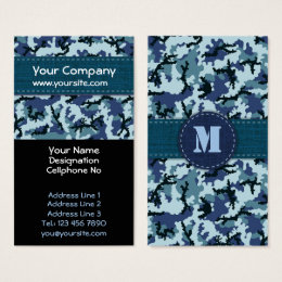 Blue navy camo camouflage business cards templates zazzle navy camouflage business card colourmoves