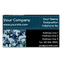 Blue navy camo camouflage business cards templates zazzle navy camouflage business card magnet colourmoves