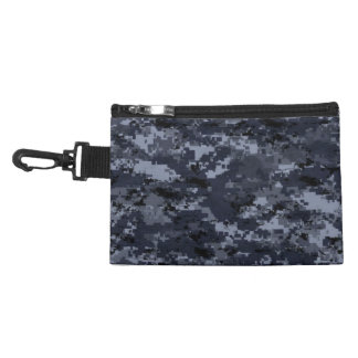 Navy Camouflage Clip on Accessory Bag
