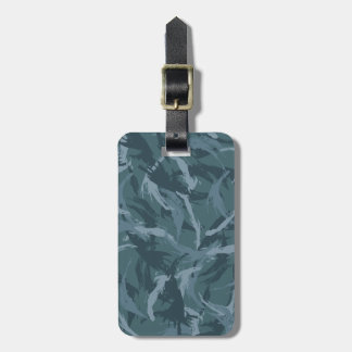 Navy Camouflage Luggage Tag