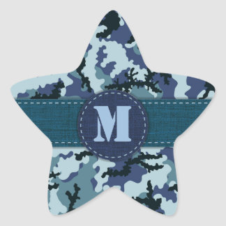 Navy camouflage star sticker