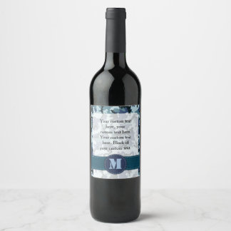 Navy camouflage wine label