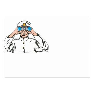 Navy Captain Sailor With Binoculars Business Cards