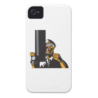 Navy Captain Sailor With Periscope Case-Mate iPhone 4 Cases