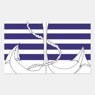 navy captain, tony fernandes rectangular sticker