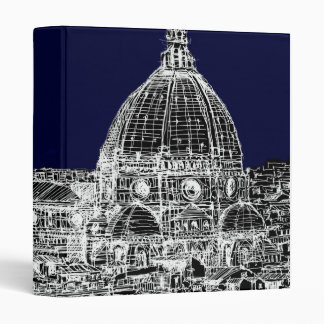 Navy cathedral Florence Binder