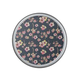 Navy Cherry Blossom Floral Speaker