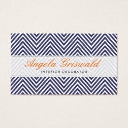 Orange and navy chevrons business cards templates zazzle navy chevron business cards colourmoves