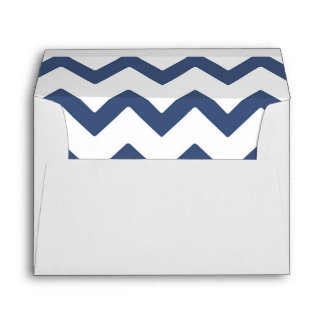Navy Chevron Wedding Envelope