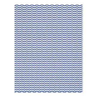 Navy Chevron/Zig Zag Scrapbook Paper Custom Flyer