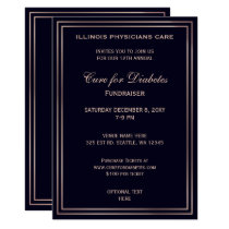 Navy Classy Corporate party Invitation