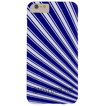 Aztec Themed Navy Color Stripe Funky Pattern Barely There iPhone 6 Plus Case