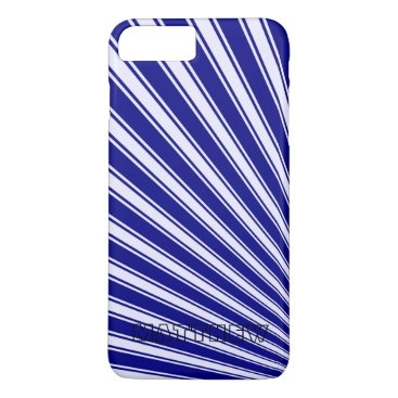 Aztec Themed Navy Color Stripe Funky Pattern iPhone 8 Plus/7 Plus Case