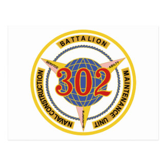 NAVY Construction Battalion Maintenance Unit 302 C Postcard