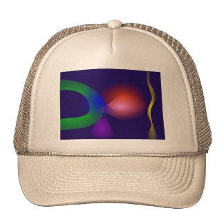Navy Contrast Abstract Composition Trucker Hat