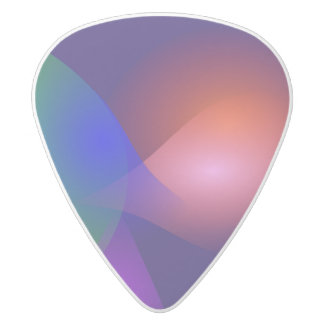 Navy Contrast Abstract Composition White Delrin Guitar Pick