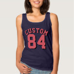 Navy & Coral Adults   Sports Jersey Design Basic Tank Top
