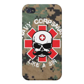 Navy Corpsman - Like A Sir iPhone 4/4S Cover