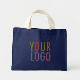 Navy Cotton Canvas Tote Bag Custom Logo No Minimum